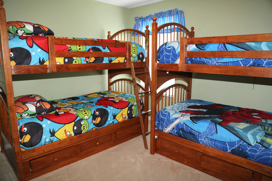upstairs bunk beds room