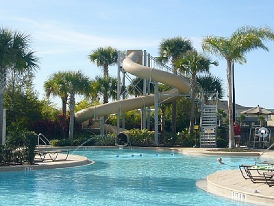 Resort Pool with Water Slides