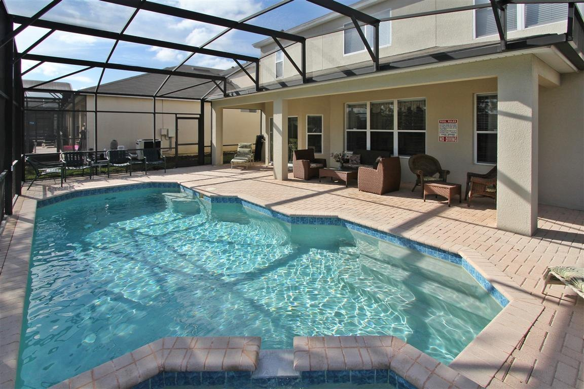 fully covered pool and spa