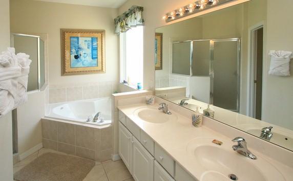 Master bathroom of master suite